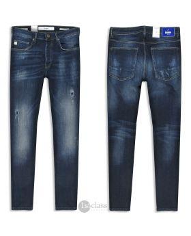 Goldgarn Herren Jeans U2 1030 Slim Fit darkblue distressed