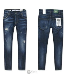 Goldgarn Herren Jeans Neckarau 4630 Twisted navy blue cropped