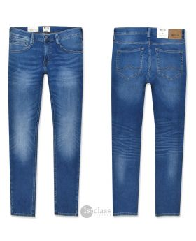 Mustang Herren Jeans Oregon Tapered K Sweat Denim blue treated