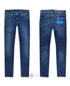 Pierre Cardin Herren Jeans Lyon 8820/02 Future Flex mid blue treated