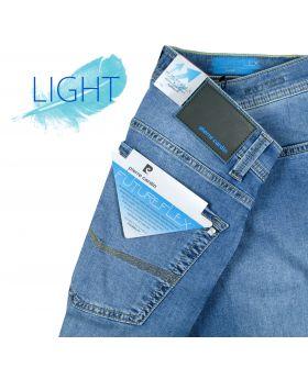 Pierre Cardin Herren Jeans Lyon Tapered Future Flex light stone blue