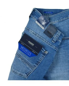 PIONEER Herren Jeans Rando Megaflex ice blue treated