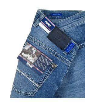 PIONEER Herren Jeans Rando Handcrafted ice blue treated