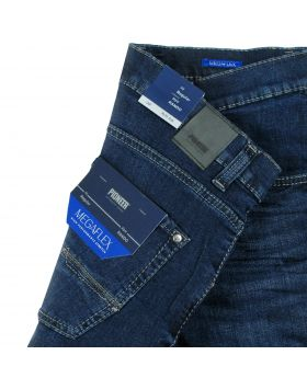 PIONEER Herren Jeans Rando Megaflex dark blue treated